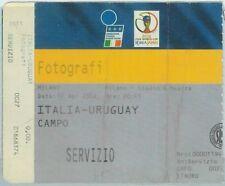 68535 -  BIGLIETTO PARTITA CALCIO 2002: ITALY /  URUGUAY world cup FOTOGRAPHERS