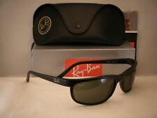 Ray Ban 2027 Predator 2 Matte Black w Green Crystal (G-15) Lens (RB2027 W1847)