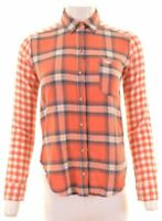 HOLLISTER Womens Flannel Shirt Size 6 XS Multicoloured Check Cotton  KO02