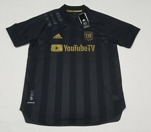 Adidas Mens  LAFC Home Authentic Jersey FL9602 Black & Gold