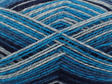 PATONS KROY SOCKS YARN - SING'N THE BLUES STRIPES - 166 YDS 50 GRAMS WOOL BLEND