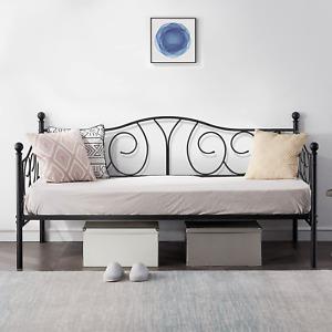 VECELO Metal Daybed Frame Multifunctional Platform Bed Sofa Mattress Foundation