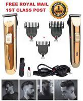 Men's Beard Trimmer Body Hair Clipper & 2 in1 Styling Kit Set Barber Cordless UK