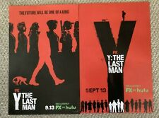 2 ORIG Y: THE LAST MAN DOUBLE SIDED 17x11 FX HULU DC COMICS PROMO POSTERS NM