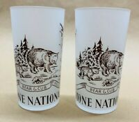 Vintage Hazel-Atlas Frosted Yellowstone National Park Glass Highball (Set of 2)