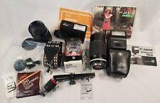Lot of Canon & Nikon Manual Focus 35mm Camera Accessories