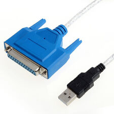 USB 2.0 To Parallel IEEE 1284 Centronic 25 Pin DB25 Printer Adapter Cable Salabl