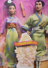 NEW DISNEY MULAN AND LI SHANG HEARTS OF HONOR BARBIE AND KEN DOLL SET