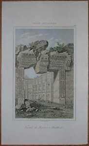 1848 print TEMPLE OF JUPITER, BAALBEK, LEBANON (#13)