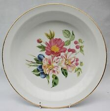 Royal Worcester Porcelain Deep plate Dish Oven to Tableware Bouquet of Flowers