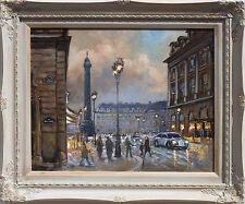 """""""Place Vendome, Paris""""  oil on canvas, listed artist Irek T. Szelag"""