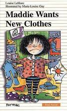 Maddie Wants New Clothes (Formac First Novels)-ExLibrary