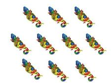 10 x Ballon feuille Salamandra Lézard Animal d'hélium à gonfler kindergeburts