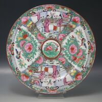 VINTAGE CHINESE ROSE MEDALLION PLATE FAMILLE ROSE