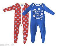 England Baby Babygrow Playsuit - 2 Pack Red & Blue - Newborn - 24 Months