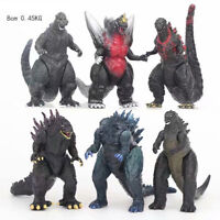 6pcs Godzilla Shin Rampage Sofvi Movie Monster Series Collection Action Figures