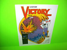 Exidy VICTORY Original NOS 1982 Retro Classic Video Arcade Game Sales Flyer #2
