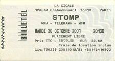 RARE / TICKET BILLET DE CONCERT - STOMP : LIVE A PARIS ( FRANCE ) 2001