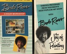 Bob Ross Joy Of Painting And Three Hour Workshop  VHS Set 1970s