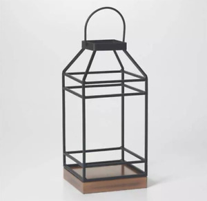 "12""Black Metal Candle Lanterns Vintage Decorative Indoor/Outdoor Hanging Lantern"