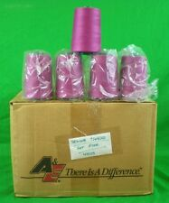 2 spl AE Perma Core Poly-wrap Poly Thread Tex-40 6,000 Yds (Hot Pink-44109) NEW