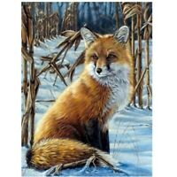 Diamond Painting DIY 5D Red Fox Full Drill Cross-stitch Kits Embroidery Crafts
