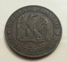 5 Centimes 1855 MA Ancre Napoléon III Rare dans état