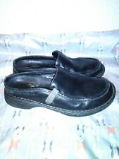 Merrell 8.5/39 Black Leather Slip on Mules Comfort / Casual Shoes