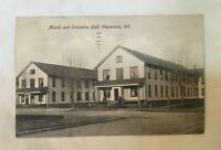 * 1910 Mound & Columbia Hall Valparaiso Indiana Postcard