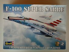 Revell F-100 Super Sabre Model Aircraft Kit 1:48 Scale Skill 2 #85-5317