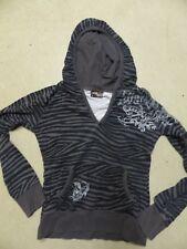 Pullover Sweatshirt zebra tattoo tribal muster grau schwarz weiß punk Gothic