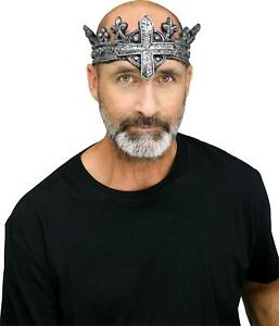 Mens Medieval King Gothic Crown Halloween Costume Accessory