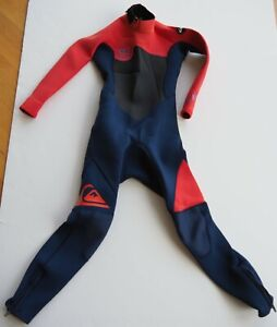 3/2mm Youth Full Length Wetsuit Quiksilver SYNCRO Orange Blue kids youth size 8