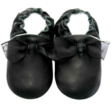Littleoneshoes(Jinwood) Soft Sole Leather Baby Infant Kid PartyBlack Shoes 6-12m