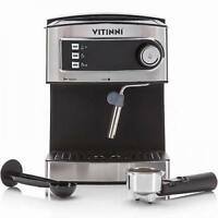 Italian Style Espresso Coffee Machine With Milk Frother Cappuccino Latte UK NEW