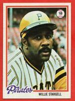 1978 Topps #510 Willie Stargell Pack Fresh MINT+ HOF Pittsburgh Pirates FREE S/H