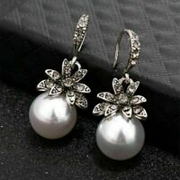 New Women Earrings Irregular Pearl Circle Geometric Drop Dangle Earring Jewelry