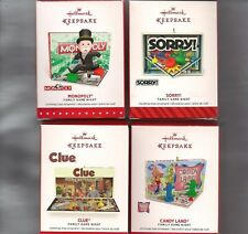 2017-14 Hallmark Ornament FAMILY GAME NIGHT Monolopy Sorry Candyland Clue LOT 4