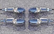 Harley Davidson Sportster Softail Dyna Electra Glide FULL CHROME TURN SIGNALS