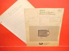 1970 IH FORD JOHN DEERE ALLIS CHALMERS TRACTOR BENDIX AM RADIO SERVICE MANUAL 70