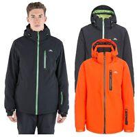 Trespass Mens Ski Jacket Waterproof Black Winter Snow Coat With Hood