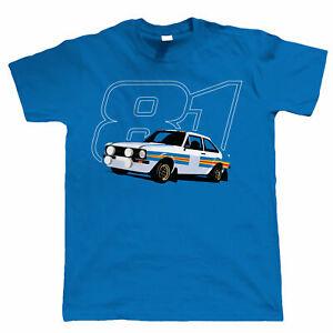 Massive Stock Clearance - Mk2 Escort RS1800 81, Mens Rally Car T Shirt, Gift Him