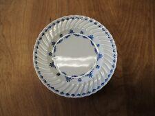 "Ridgway England Ironstone TIVOLI Set of 8 Bread Plates 6 3/8"" Swirl Blue Leaf"