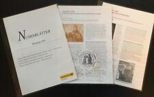 51735] NUMISBLÄTTER Jahresinhaltsverzeichnis + Beschreibungsblätter 2000