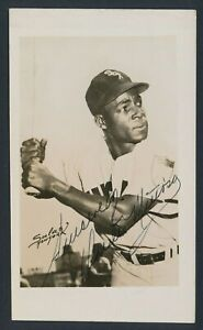 1950's Minnie Minoso, Photo Baseball Card of Cuban Legend (Signed)