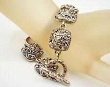 Signed Premier Designs Jewelry  Silver Tone Bracelet 7 3/4''