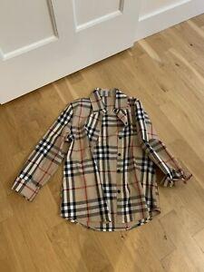 Womens Shirt Blouse Plaid Nova Check Beige Red Size Sz S Small Craft Fabric
