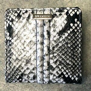 Brahmin Jane Mini Wallet STONE FELIX Python Snake Embossed Leather Gray NWT