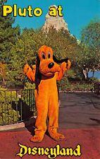 Postcard Character Pluto & Matterhorn Mountain Disneyland~116340