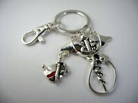 Beautiful Collectible Keychain: Medical Doctor Theme Silver Tone